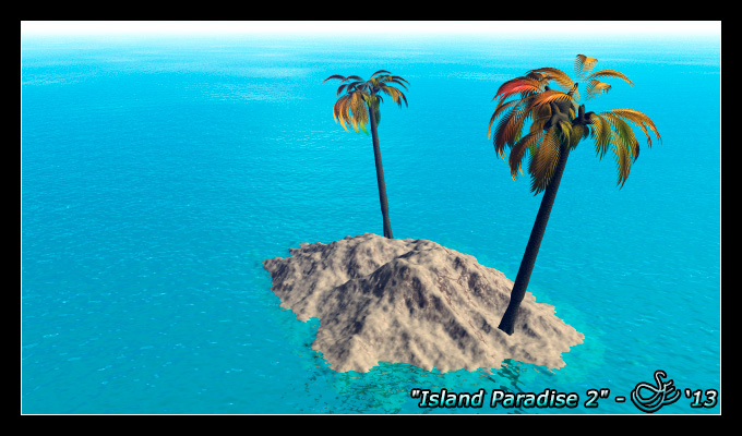 """Island Paradise 2"" - Sep. 21, 2013 Warm ocean waters surround a tropical island."