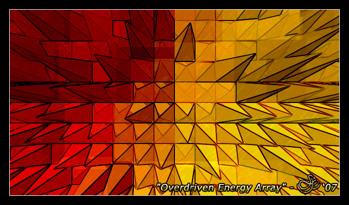 """Overdriven Energy Array"" - Sep. 11, 2007 Abstract creation of the surface of the Sun."