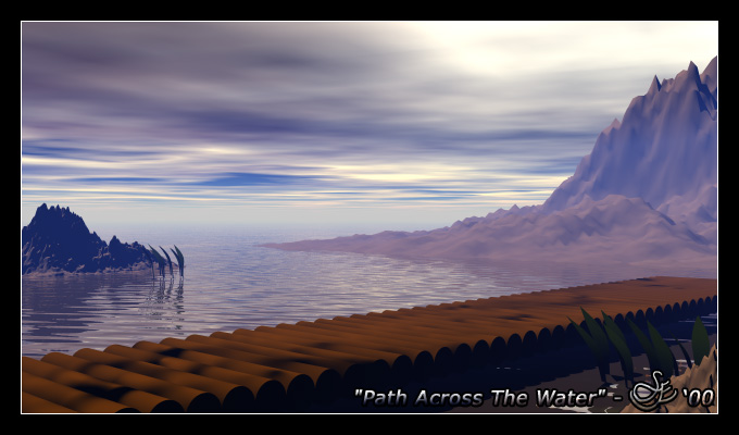 """""""Path Across The Water"""" - Nov. 16, 2000 The calm before the storm."""