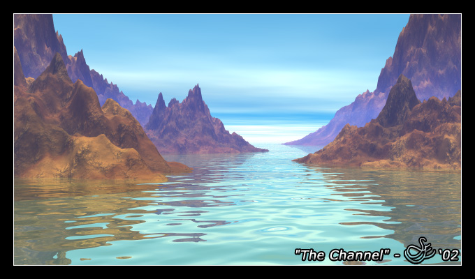 """""""The Channel"""" - Jan. 4, 2002 Imagine turning towards the ocean for a tranquil view. Water so beautiful that you need to witness it firsthand."""
