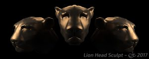 Lion Head Creature Sculpt